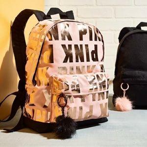 PINK rose gold mini bookbag